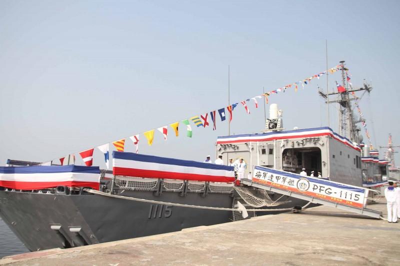 俄媒近日刊文稱美國向台灣販售陳舊武器,台灣有如「美國二手軍艦的垃圾場」。圖為我國向美國採購的「派里級巡防艦」。(資料照,中央社)