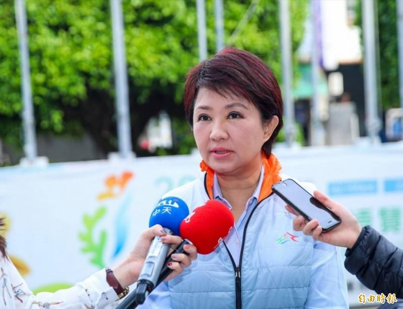台中市長盧秀燕表示,台南立委補選是總統選舉前哨站,具指標意義,不可掉以輕心。(記者歐素美攝)