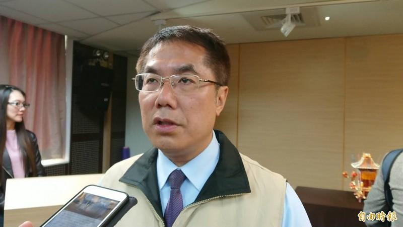 台南市長黃偉哲說明台南兩岸小組成員徵詢,將於3月底4月初到位。(記者洪瑞琴攝)