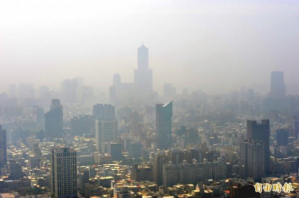 台灣方面,整體排名在73個國家中排名第39糟,空氣最差的是高雄,在全球排名第530糟。(資料照)