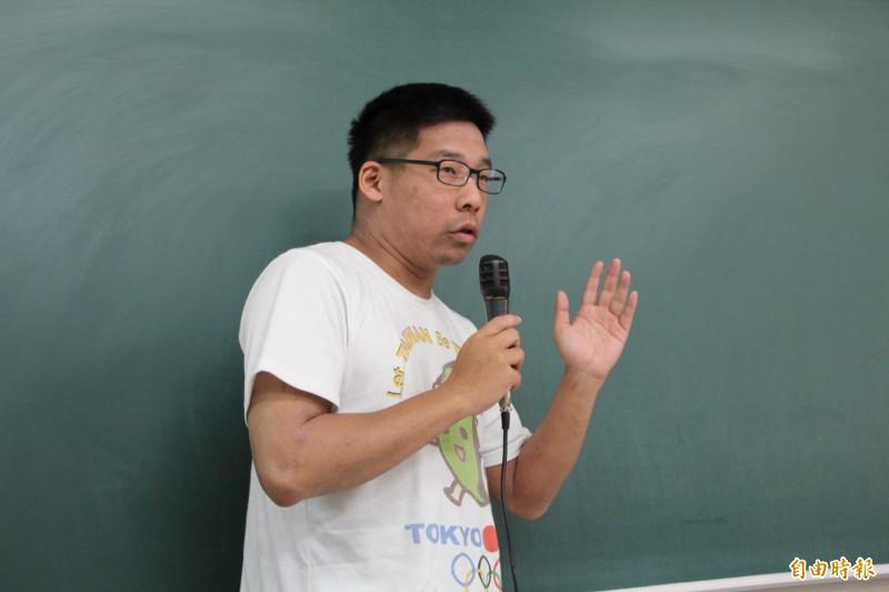 王奕凱今宣布參選時力第一屆黨代表。(資料照)