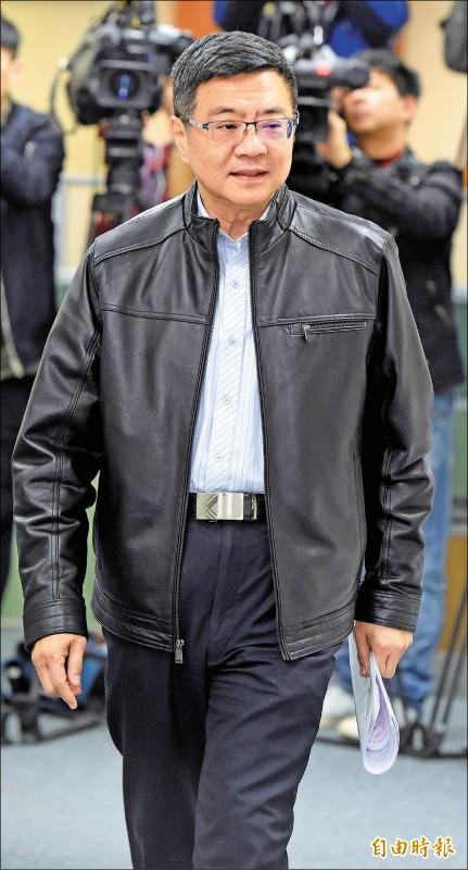 民進黨主席卓榮泰6日出席民進黨中常會。(記者朱沛雄攝)