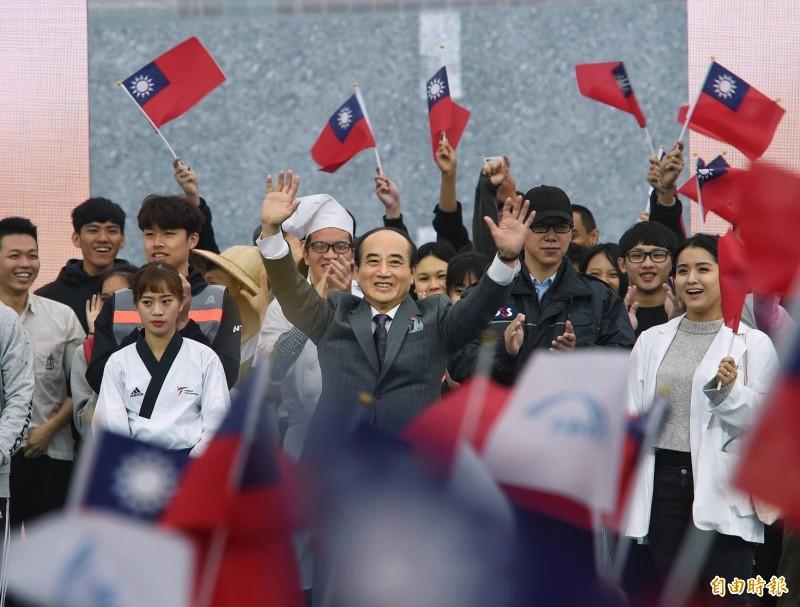 國民黨立委、前立法院長王金平上午10點宣布參選2020總統。(記者方賓照攝)