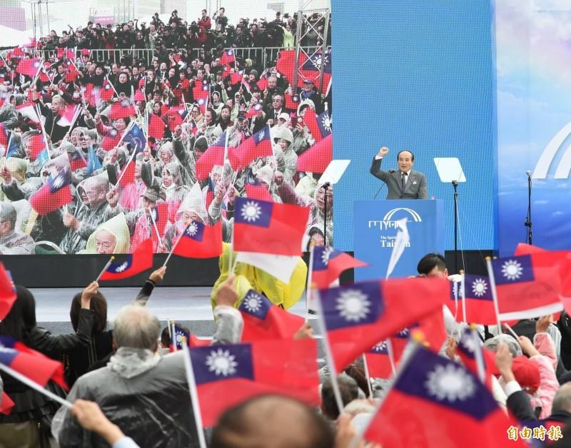 王金平宣布參選,自認有自信重現台灣錢淹腳目的榮景。(記者方賓照攝)