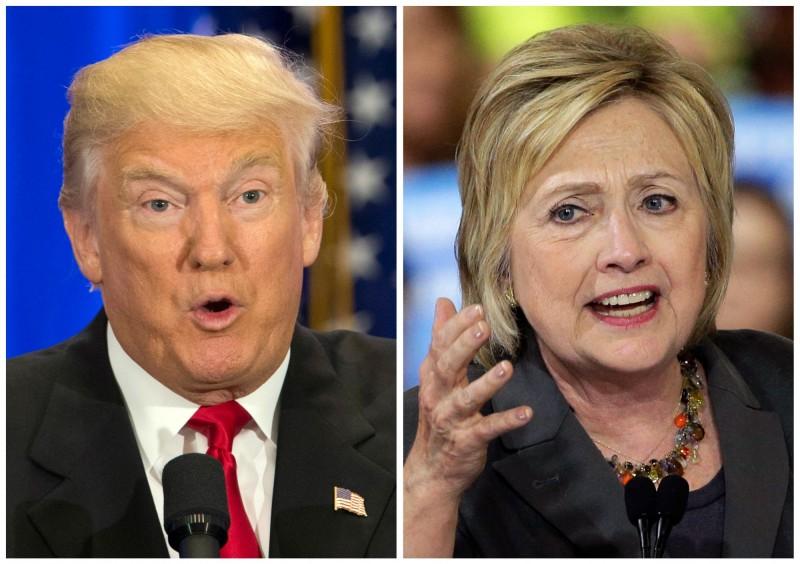川普與希拉蕊競爭2016美國總統大選是許多人津津樂道的話題。(美聯社)