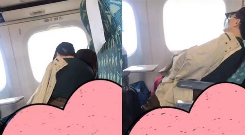 愛侶在高鐵上活春宮,全程被旁邊民眾錄下。(圖擷取自爆廢公社)