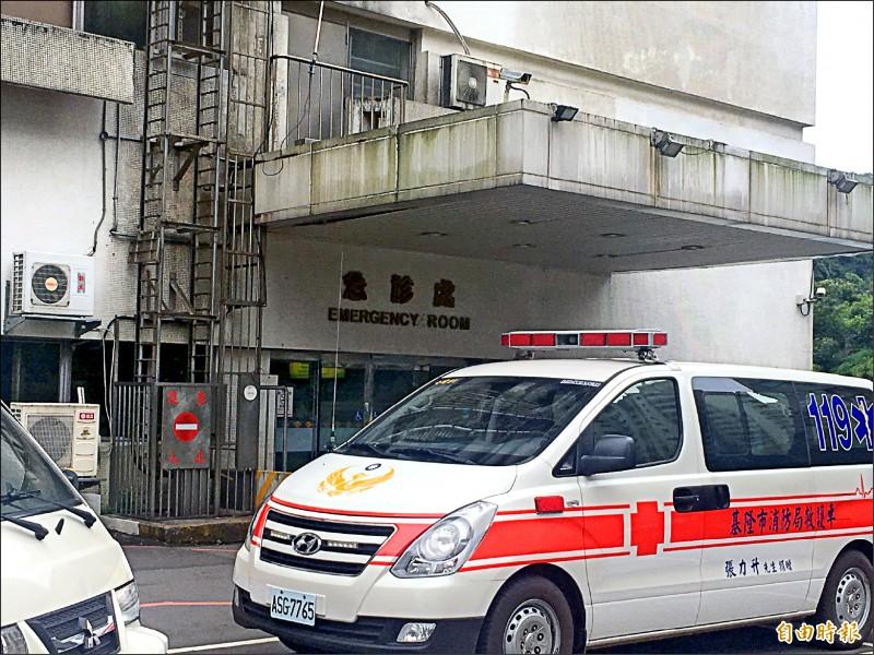 女童送到急診室時,昏迷指數只有3,身上有多處傷勢。(記者吳昇儒攝)