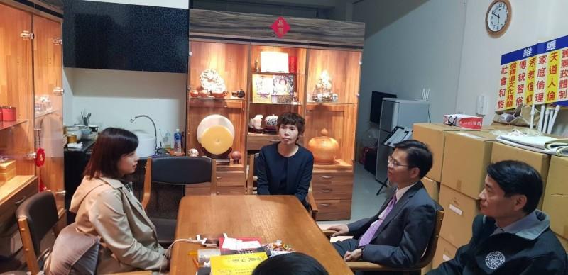 台南檢調警首長造訪立委候選人楊筱如競選總部。(記者王俊忠翻攝)