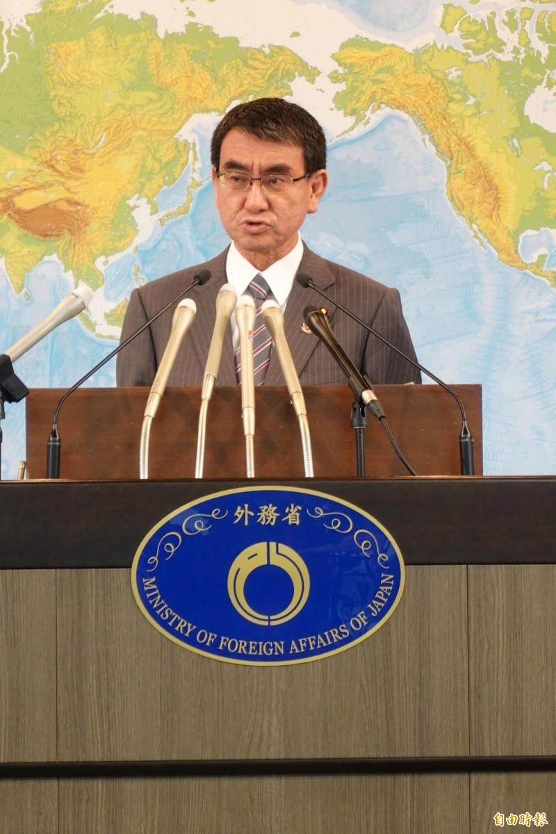 蔡英文總統表態希望與日本政府直接安保對話,日本外務大臣河野太郎今天正式回應。(記者林翠儀攝)