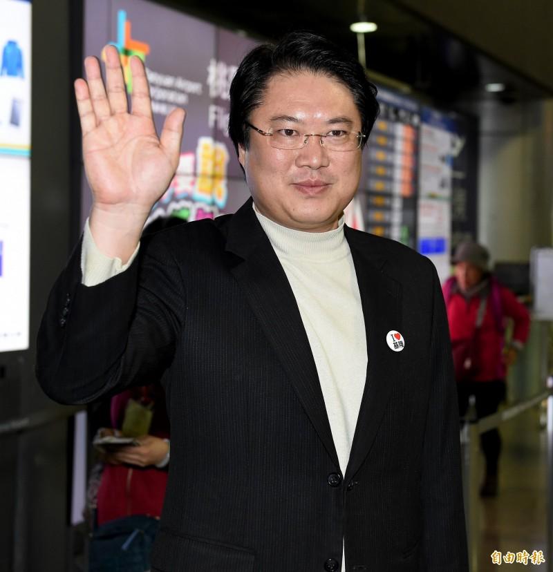 基隆市長林右昌8日晚間率團前往美國五大城市,展開為期11天的訪問行程。(記者朱沛雄攝)