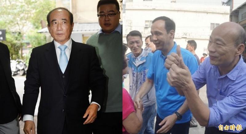 王金平已宣布參選2020總統大選;朱立倫5日前往高雄找韓國瑜談天。(資料照,本報合成)