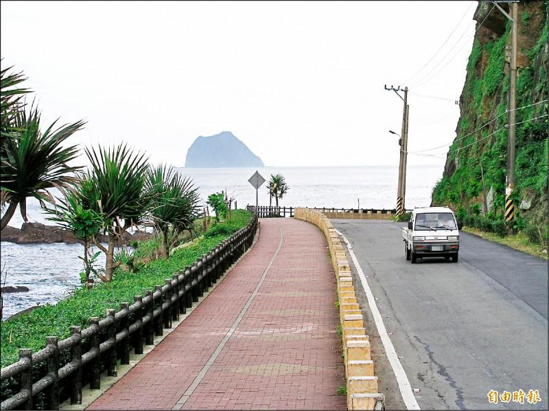 基隆外木山濱海步道景觀優美。(記者盧賢秀攝)