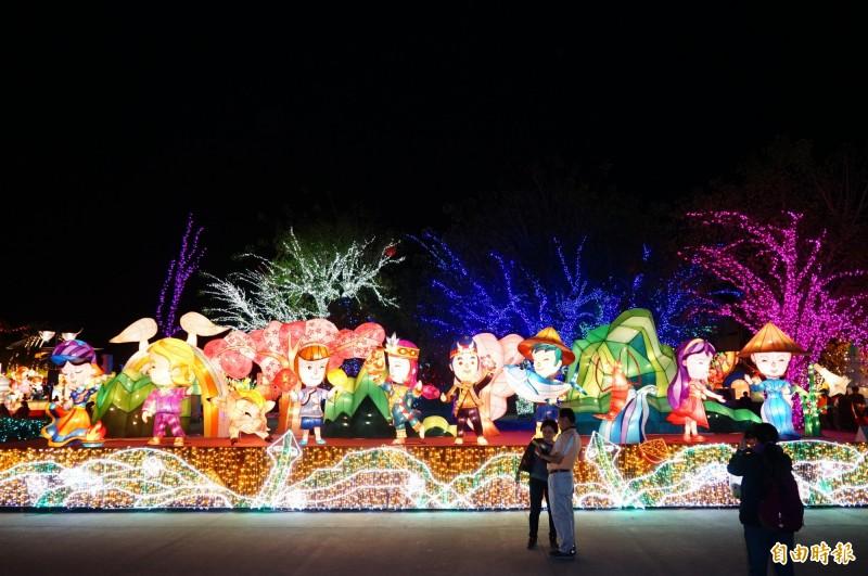 「和屏共好」將到馬來西亞的燈會展出。(記者陳彥廷攝)