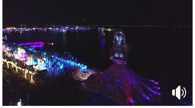 屏東縣長潘孟安分享未曝光的燈會影片。(翻攝畫面)