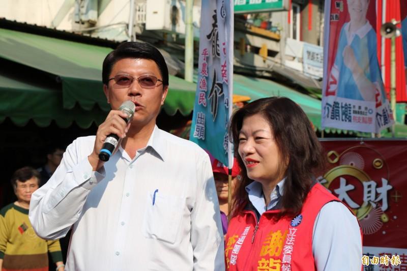 國民黨立委候選人謝龍介(左)。(資料照)