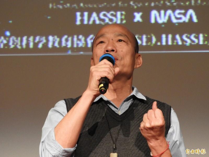 民進黨打悲情牌,韓國瑜批說大家看膩了。(記者葛祐豪攝)