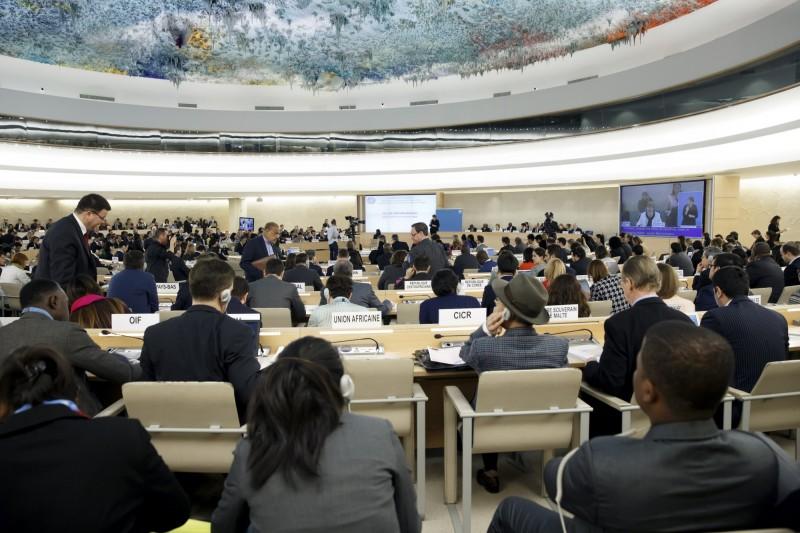 隨著聯合國人權理事會在瑞士的日內瓦進行第40屆年會,聯合國在2018年11月對中國所進行的「普遍定期審查」也將在這次會中由匈牙利、肯亞與沙烏地阿拉伯所組成的「三國審議小組」做出結論性報告。(歐新社)