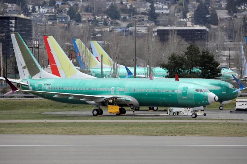 澳洲當局宣布,禁止波音737 MAX系列飛機在境內起降。圖為在美國華盛頓州裝配廠的波音737 MAX8。(路透)