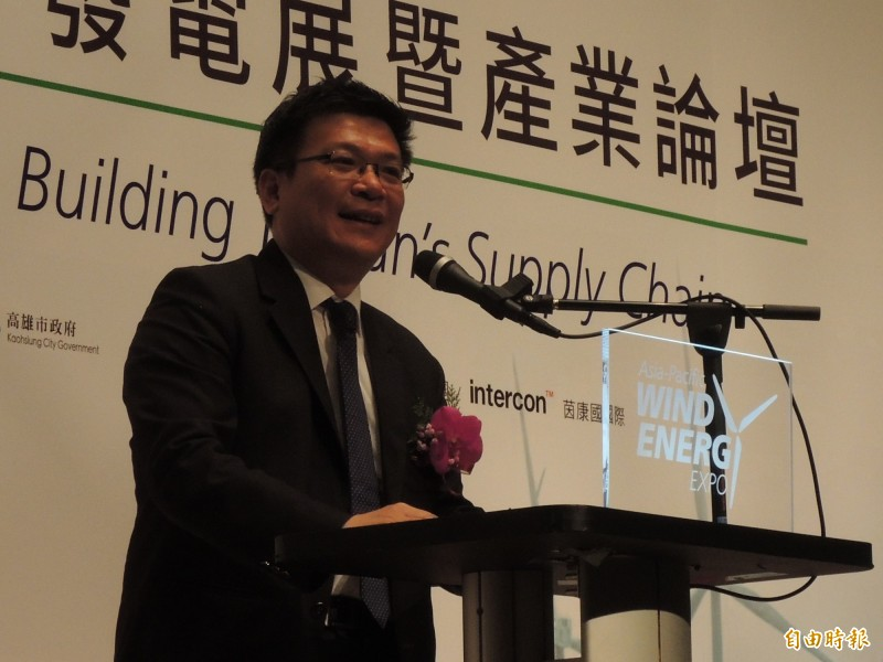 經濟部次長曾文生強調,綠電是台灣經濟發展關鍵。(記者王榮祥攝)