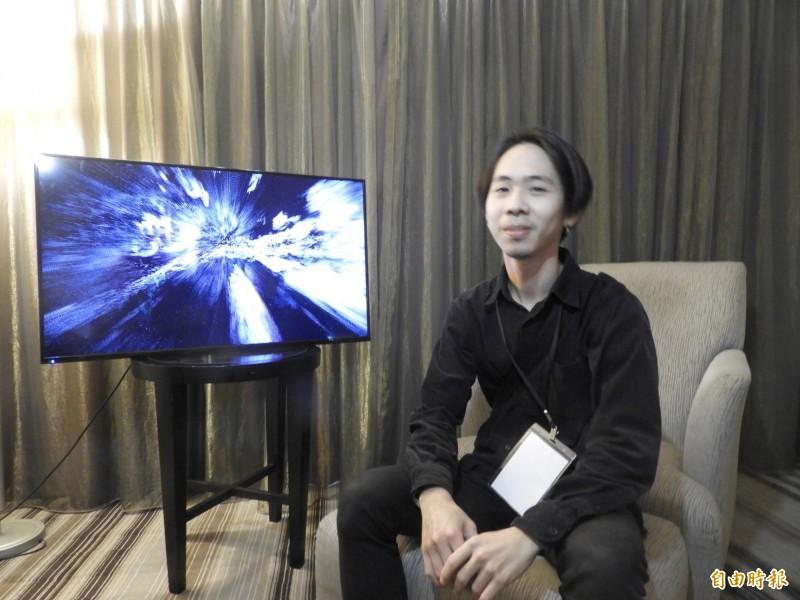 台南新藝獎得主洪譽豪。(記者洪瑞琴攝)