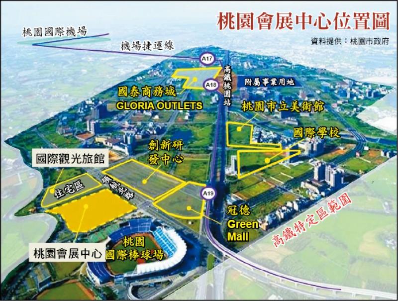 桃園會展中心位置圖