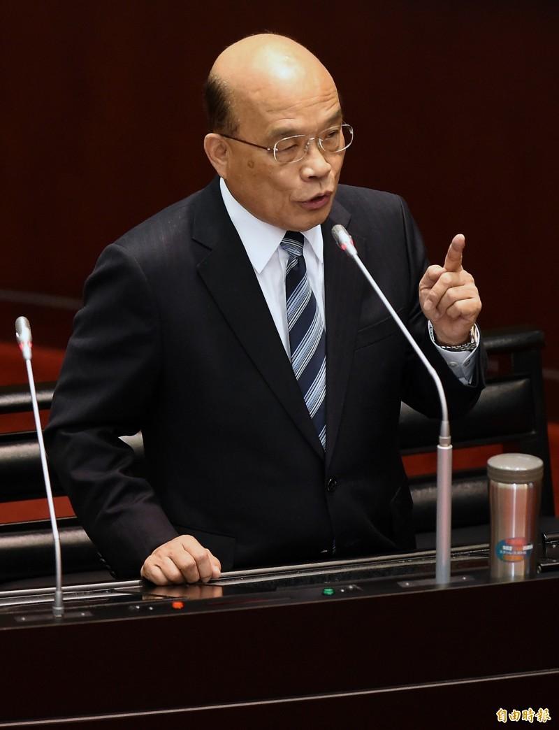 蘇貞昌宣示當前政府反毒的立場,政府面對毒品的立場就是二個字「痛打」!(資料照)