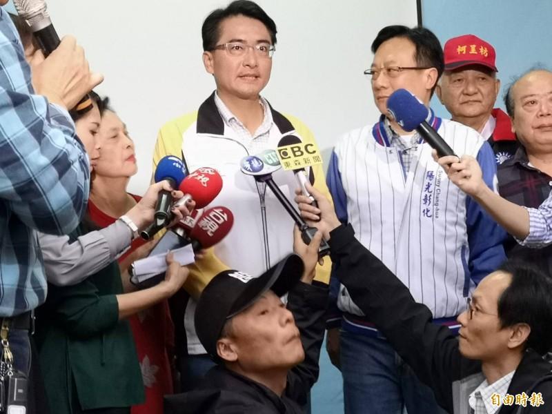 彰化縣第1選舉區缺額補選由國民黨柯呈枋4萬7835票勝出。(記者劉曉欣攝)