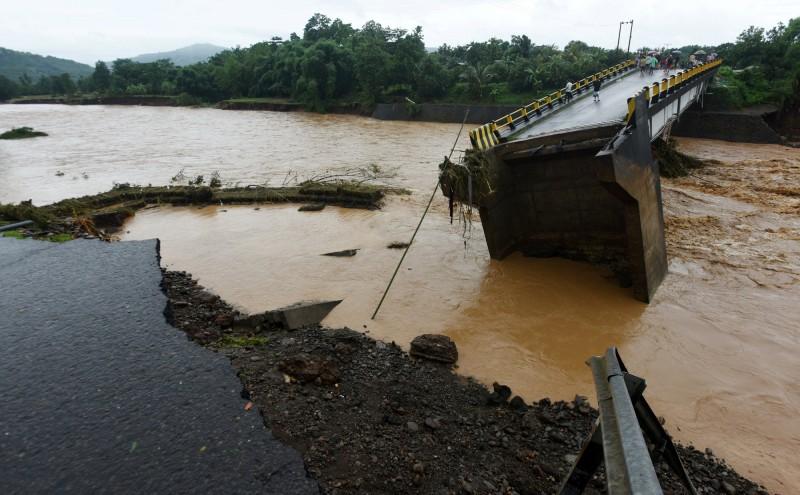 印尼洪水示意圖。(路透)
