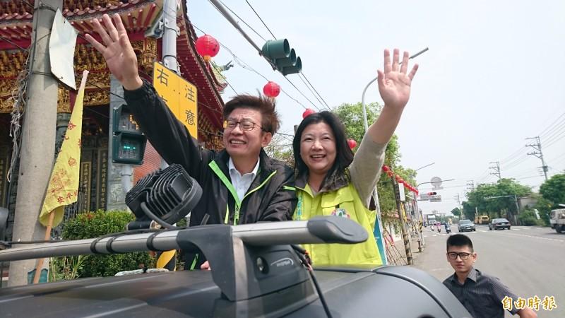 「準」立委郭國文(左)說:「站在人情義理上,我會支持賴清德。」(記者楊金城攝)