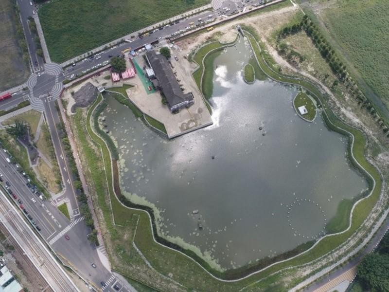 台中市東區台糖湖濱生態園區。(記者黃鐘山翻攝)