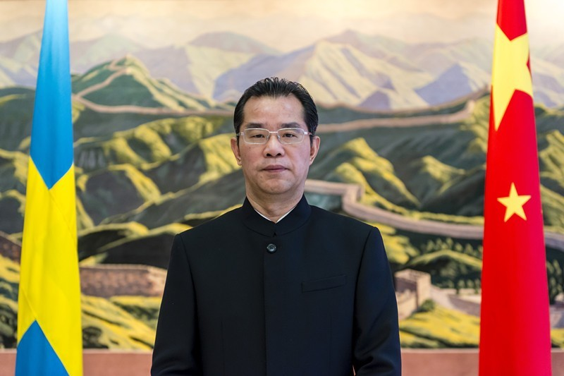 無國界記者發聲明抨擊中國駐瑞典使館,譴責對方「長期意圖干預瑞典新聞界的新聞自由」,並痛斥「外交機構沒資格對駐在國的新聞媒體說三道四!」;圖為中國駐瑞典大使桂從友。(圖擷取自中國駐瑞典大使館)
