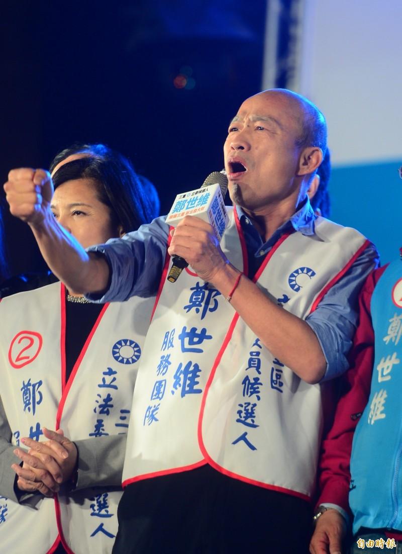 高雄市長韓國瑜被讚「百年難得奇才」,他自比是金庸筆下的「令狐沖」。(資料照)