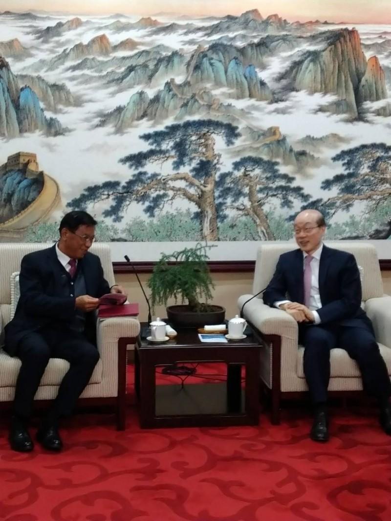 林明溱拜會劉結一 希望中國每年「送」70萬人到南投觀光