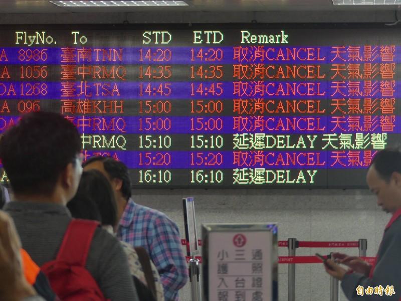 春分霧鎖金門 近2000旅客沒飛機可搭