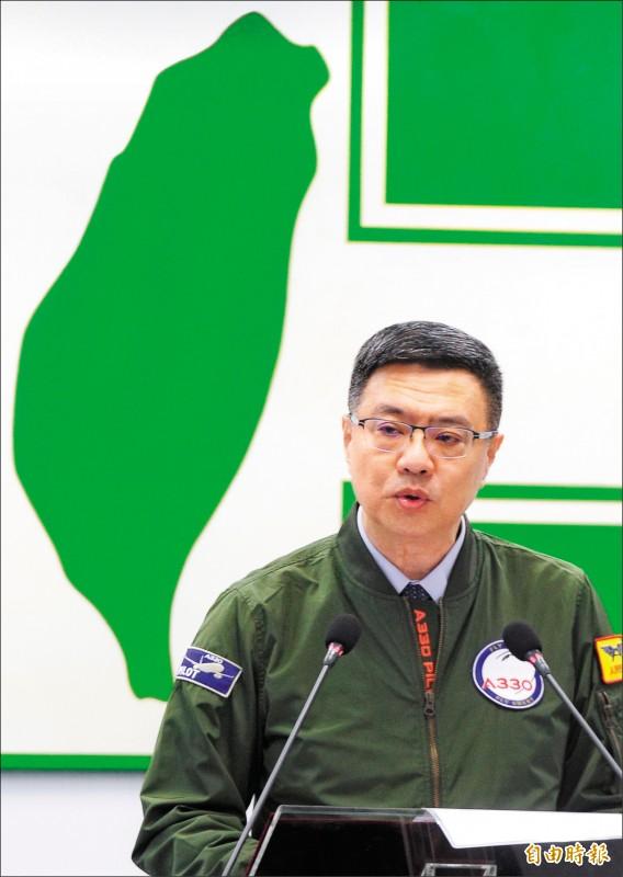 民進黨昨中常會,黨主席卓榮泰向黨公職人員表示,針對總統初選不要過度表態。(記者王藝菘攝)