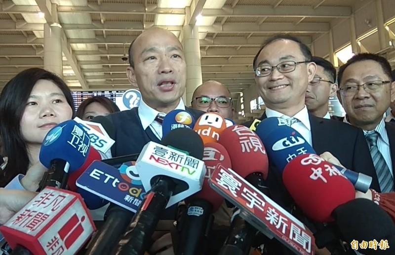韓國瑜上任不到3個月,2度出國參訪。(記者洪定宏攝)