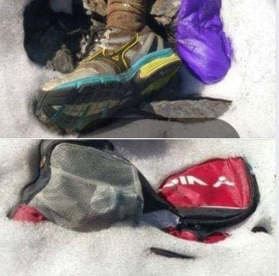 秀姑巒山又發現另一具乾屍,山友希望藉遺物照能找到家屬。(圖翻攝自「三條魚」詹喬愉臉書)
