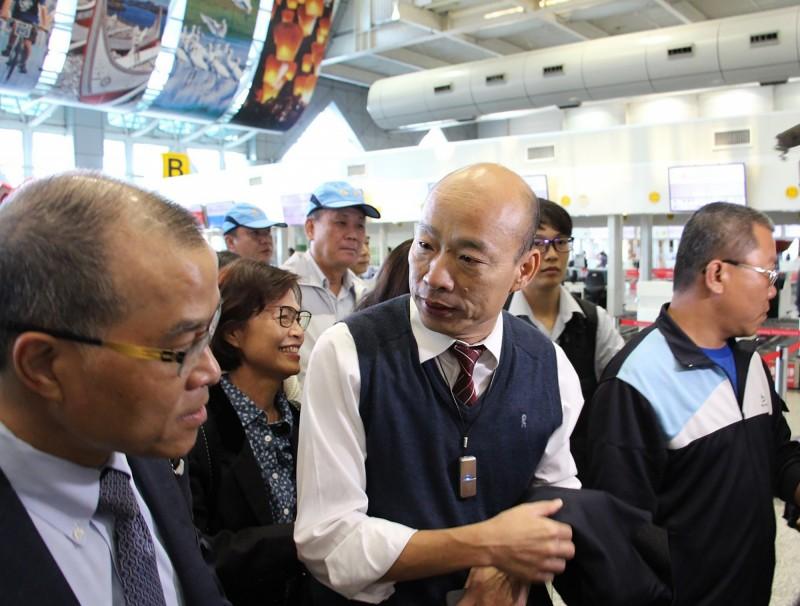 高雄市長韓國瑜出訪香港誤稱不丹在阿爾卑斯山旁邊。(高雄市新聞局提供)