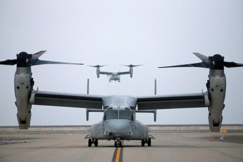日本將引進與MV-22相似型號的CV-22運輸機,CV-22與MV-22相比,夜間飛行能力更佳。圖為MV-22。(路透)
