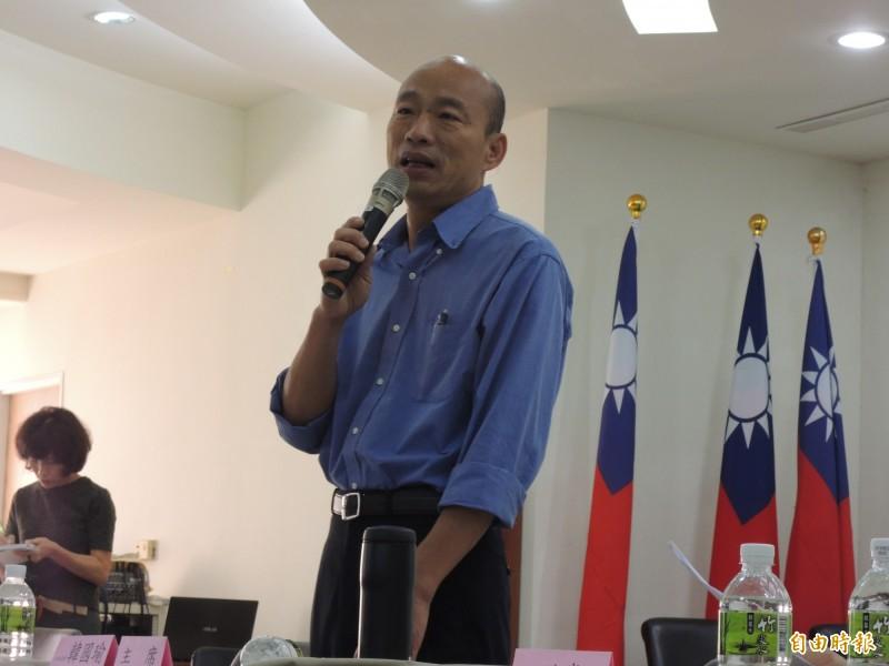 韓國瑜出訪港澳拼經濟,卻密會香港、澳門中聯辦,引發廣大爭議,國民黨卻不當一回事,對此,周偉航痛批,國民黨麻煩大了。(資料照)