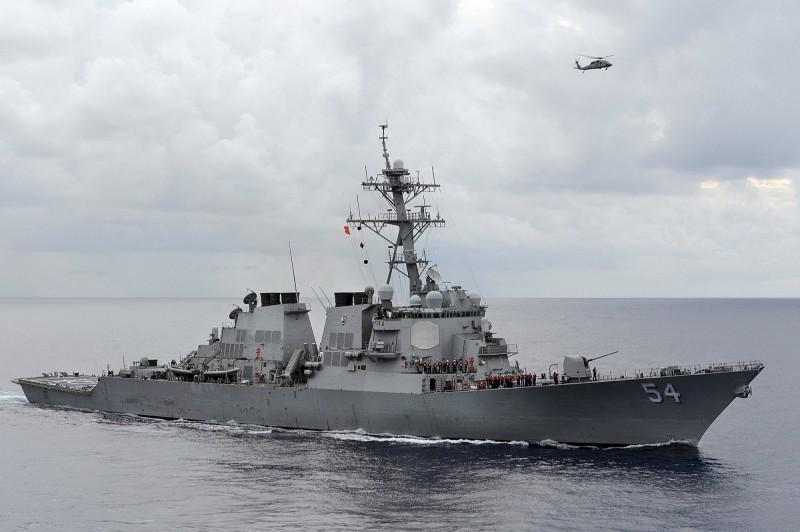 2019年第三度!美軍艦昨穿越台灣海峽