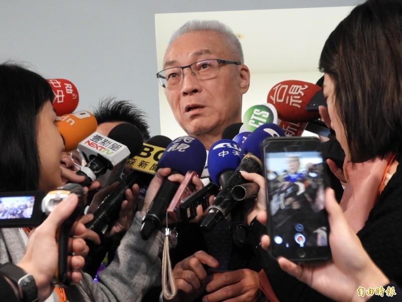 國民黨主席吳敦義。(資料照,記者賴筱桐攝)