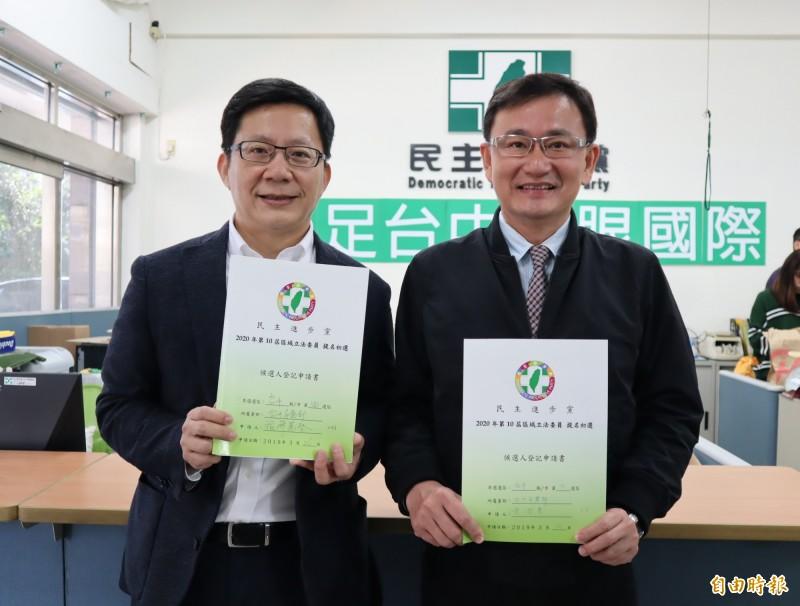 民進黨立委黨內初選 黃國書、張廖萬堅登記