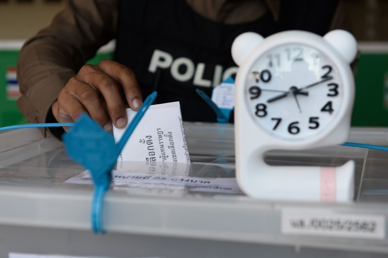 泰國24日迎來2014年軍事政變以來首次國會選舉。(法新社資料照)