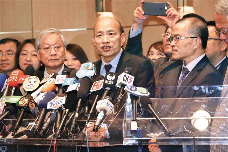 高雄市長韓國瑜強調妻子絕不會參選高雄市長。(資料照,高雄市新聞局提供)