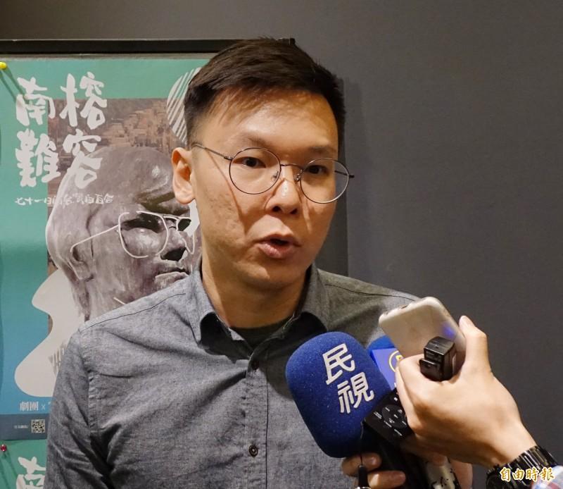 林飛帆問「台灣作為一個獨立的民主國家是否正在面對中國的併吞(統一)威脅?」(資料照)