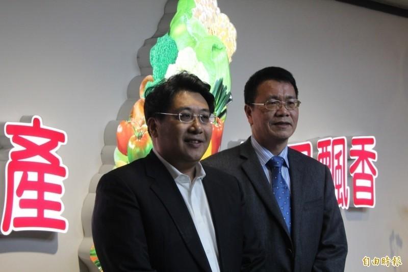 北農董事長、總經理人事上個月才底定,董事長黃向羣、總經理翁震炘。(資料照)