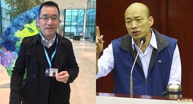 韓國瑜嗆陳致中為何不自首外遇罪,陳致中發表16字回應。(資料照,本報合成)