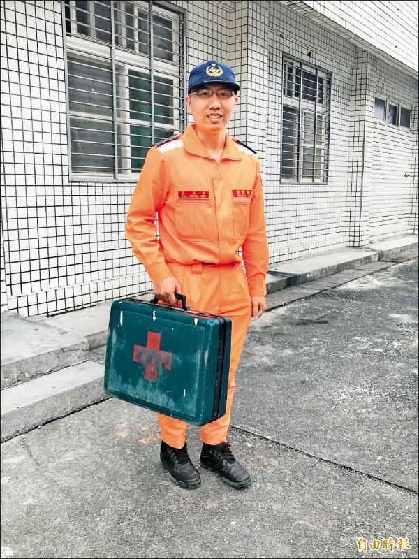 海巡小隊長呂承佑。(記者吳昇儒攝)