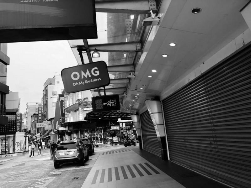 王浩宇發現,假日的新崛江商圈人潮不如韓國瑜預期。(圖擷取自王浩宇臉書)